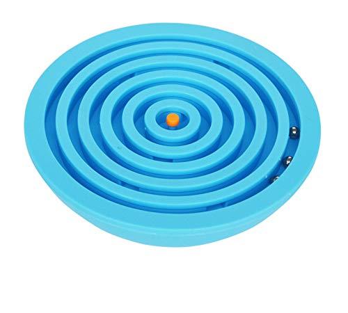 digitCube Kugellabyrinth - Balance 3D Puzzle Geschicklichkeitsspiel (Blau)