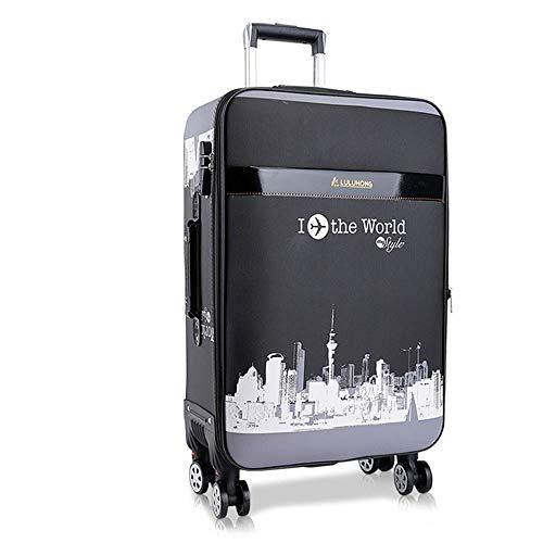 HLXB Valigia da Viaggio in PU per Ragazzi e Ragazze Adolescenti,Trolley Morbide Leggero per Studente con Porta di Ricarica USB, Grande capacità Espandibile, Dimensioni Multiple