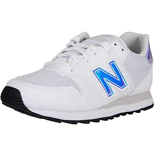 New Balance NB 500 - Zapatillas para mujer, color Blanco, talla 41 EU
