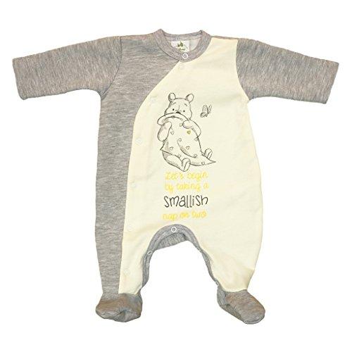 Winnie The Pooh Baby Strampler für Neugeborene in Größe 44 50 56 62 68 74 80 Baumwolle Neutrale Farbe- für Junge für Mädchen warm dick Disney Farbe Modell 5, Größe 74