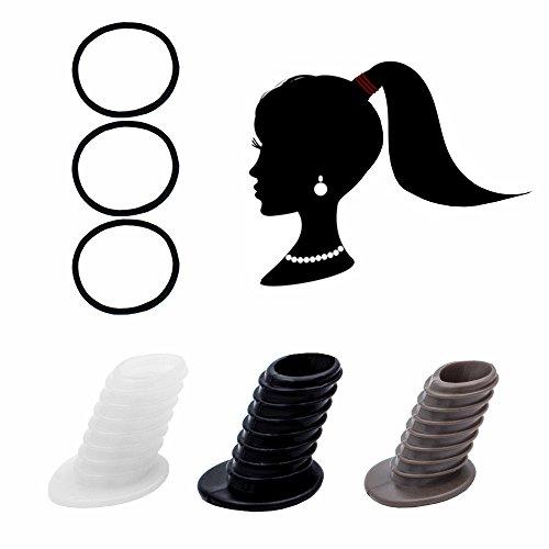 Perfect Pony Haargummi Haarband Zopf Dutt Pferdeschwanz Frisurenhilfe Fülliger (Braun)