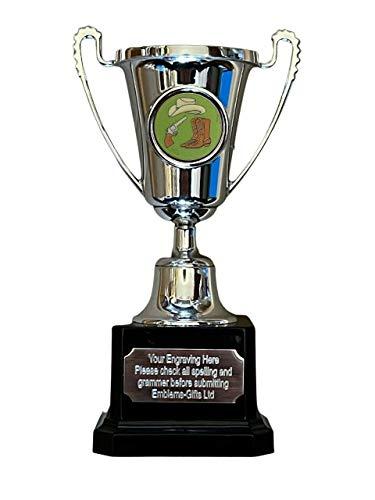 Emblems-Gifts Country and Western Dance - Trofeo de premio de plata con mini Moment Cup grabado
