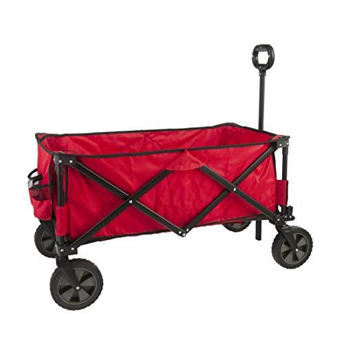GOJOOASIS Collapsible Folding Outdoor Utility Wagon Garden Portable Hand Cart for Shopping, Beach,...