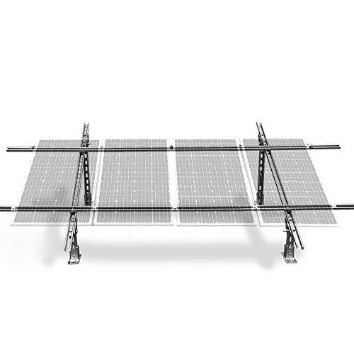 ECO-WORTHY verstellbares Mehrfeld-Montagesystem für 100 Watt bis 300 Watt Solarmodule (verstellbares Montagesystem)
