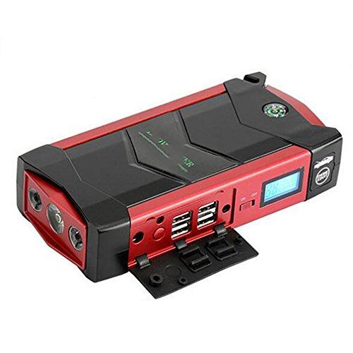 LPY-Car Rover Descarga 600A Peak Portátil Jump Starter 20000 mAh Booster Emergencia Auto Battery Multifunción Pack Power Bank con Smart Clamp para Coche, camión, SUV, Red
