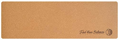 JUCKER HAWAII Balance Board Homerider Cork Mat - Tappetino in Sughero e caucciù, 183 x 61 x 0,2 cm, Antiscivolo