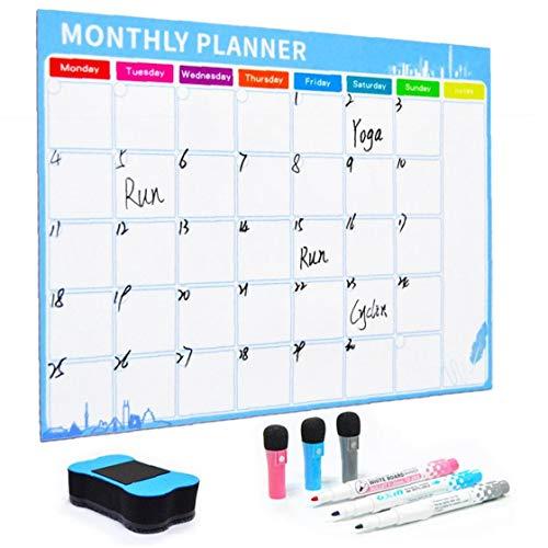 1 Juego Magnético Planificador Mensual Calendario Mensual De Borrado En Seco Resistente...