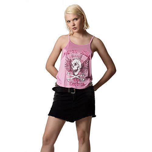 CUPID KILLER | Camiseta de Tirantes Collection - 100% Viscosa - Todas Las Temporadas - Mujer | Color Rosa | Talla M