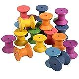 TickiT 73975 - Carrete de madera con arco iris (21 unidades)