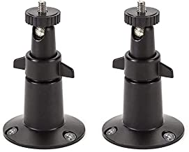 Adjustable Indoor/Outdoor Security Metal Wall Mount Compatible with Arlo Pro/Pro 2/Pro 3/Pro 4/Ultra/Ultra 2, & Others - Ring Stick Up Cam Battery, eufyCam E/2C, Wyze Cam Outdoor/Pan (2 Pack, Black)