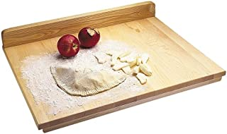 Snow River USA 7V03345 Hardwood Maple Pastry and Pie Prep Board with Backsplash, 18