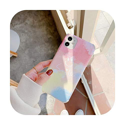 Süße Regenbogenbär Handyhülle für Huawei Y7 Pro Y9 Prime Y9 2019 Nova 4 Nova 5 5i Pro Nova 5T Frosted Silikon Hüllen Soft Cover Smile Case für Y9 Prime 2019