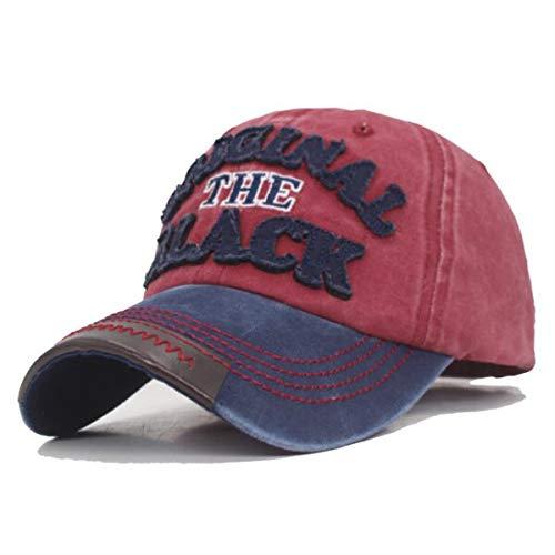 GMZXX Heren baseballpet merk dames heren bothoed heren pet vintage zwart hoed donkerblauw wijn rood zwart