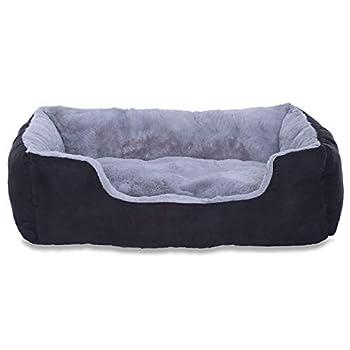 Dibea Lit coussin pour chien taille M 60 x 48 gris/noir