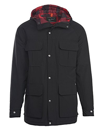 Woolrich Men's Advisory Wool Insulated Mountain Parka, Black, X-Large