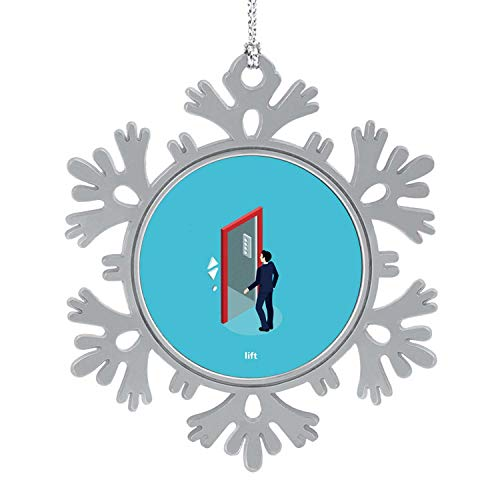 C COABALLA Lift2 - - Elevator,Christmas Ornament Hanging Creative Gifts for Christmas Party Decoration Metal 5PCS