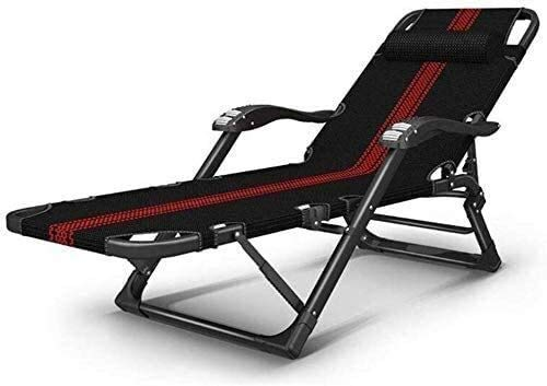 FTFTO Office Life Camping Chairs Garden Daybeds Folding Chair Deck Chair Recliner Armchair, Lounge Folding Chair - Office Sleep Adjustable Backrest Portable Beach Bed Lazy Bed 178x65x25cm (Color : B)