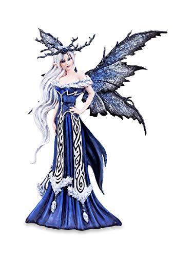 Les Alpes Fata Regina d'inverno Elaine, 43,5cm, Collezione Amy Brown - Statuina Figura Collezione Dipinta a Mano in Resina Sintetica - 052 10200