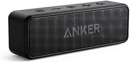 Anker SoundCore 2 Altavoz Bluetooth portátil con mejor bajo, 24 horas de tiempo de reproducción, alcance Bluetooth de 6.0ft, resistencia al agua IPX5 y micrófono integrado, altavoz inalámbrico de doble controlador