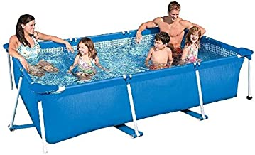 BHDYHM Small Family Frame Pool Rectangular Frame Swimming Pool Detachable Pool,Easy to Assemble and Disassemble Without Filter Pump,260X160X65CM