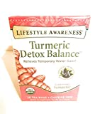 Lifestyle Awareness Turmeric Detox Balance Caffeine Free Tea, 20 Tea Bags
