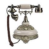Sutinna Teléfono Antiguo Vintage, Registros de Llamadas de 38 Grupos FSK/DTMF Teléfono de línea Fija Retro con cancelación de Ruido con función de rellamada de un botón para el hogar