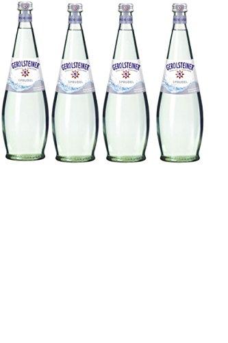 12 Flaschen Gerolsteiner Gourmet Sprudel Mineralwasser a 750ml in edler Glas inc. 1.80€ Mehrweg Flasche