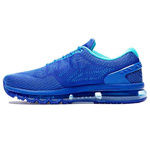 ONEMIX Herren Laufschuhe Sportschuhe Fitness straßenlaufschuhe Sneaker mit Luftpolster Dämpfung Turnschuhe Trainer 1155 Blau 43