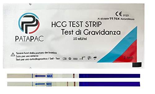 5 Test Gravidanza Canadesi Test Precoce e Rapido positivo dal settimo giorno 10 mIu/lm per beta hcg Test sensibile con bicchierini monouso per urina Strisce da 2.5 mm