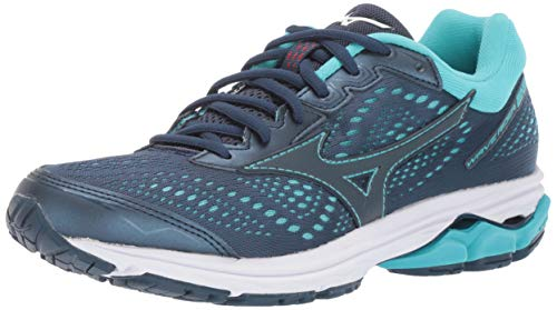 Mizuno Women's Wave Rider 22 Running Shoe, Blue Wing Teal, 6 B