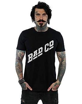 ABSOLUTECULT Bad Company Men s Distressed Logo T-Shirt Black X-Large