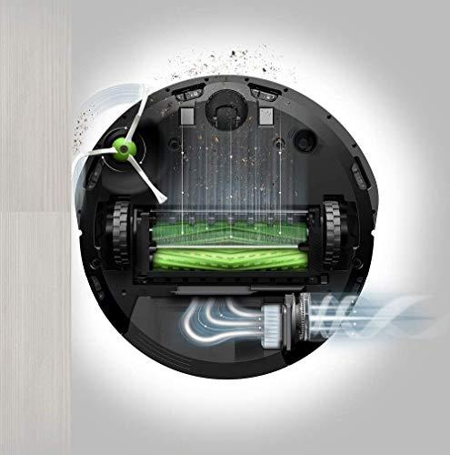 iRobot Roomba i7156 Robot Aspirapolvere, Memorizza la planimetria della tua casa, Adatto per Peli di Animali Domestici, spazzole in gomma, potente aspirazione, Wi-Fi, programmabile con App, argento