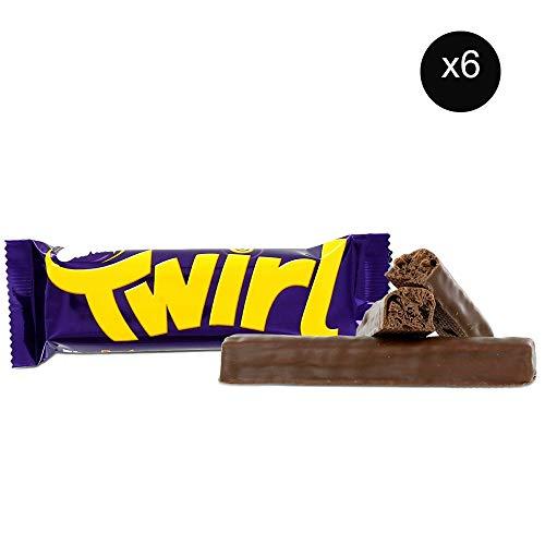 Cadbury Twirl | Total 6 bars of British Chocolate Candy - Cadbury Twirl