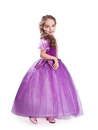 ELSA & ANNA® Princesa Disfraz Traje Parte Las Niñas Vestido (Girls Princess Fancy Dress) ES-FBA-RAP1 (4-5 Años, ES-RAP1)