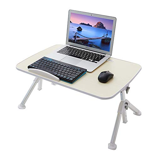 Laptop Desk for Bed, Height Adjustable Foldable Lap Desks Bed Trays for Eating and Laptops Stand Lap Table, Sofa, Bed Table Office Tray