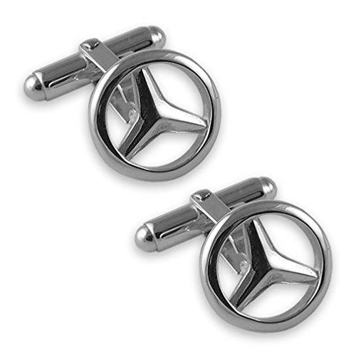 Select Gifts Sterling Silber Manschettenknöpfe Mercedes