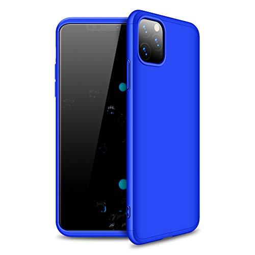 Funda para iPhone 11 Funda 360 Grados Protección Ultra Slim Cubierta PC Hard Case, 3 in 1 Carcasa Case Cover para iPhone 11 (Azul)
