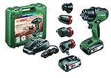 Bosch 06039B5103 perceuse-visseuse à percussion AdvancedImpact 18 (2 batteries, système 18V, avec accessoires, dans une boîte...