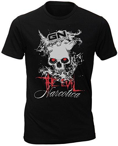 GN Laboratories Narcotica The Evil T-Shirt Schwarz Bodybuilder Fitness Shirt Damen Herren - Workout Gymshirt Trainingsshirt (M)