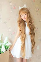 Simpleyourstyle Heat Resistant Hair Wig Blonde Wigs New Godiva Extra Long Lolita Full Natural Wavy