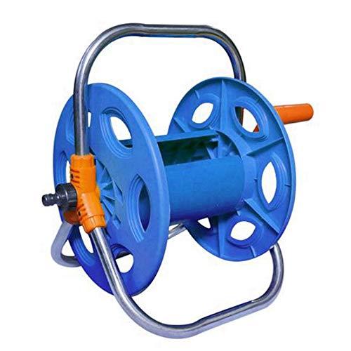 JVSISM - Carrete de manguera de agua para el hogar y el jardín, portátil, herramienta de riego práctica y práctica