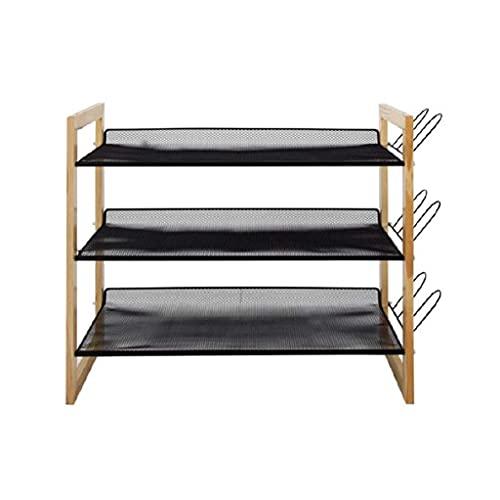 LLLKKK Armario zapatero de varias capas, sencillo y económico, montaje de muebles, de madera maciza, resistente al polvo, para dormitorio, almacenamiento de zapatos, estilo único