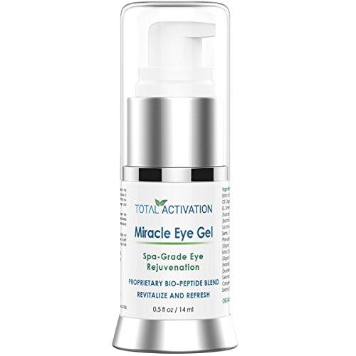 Total Activation anti arrugas milagro eye gel anti aging suero de colágeno y tóner para los hombres y las mujeres 0,5 onza