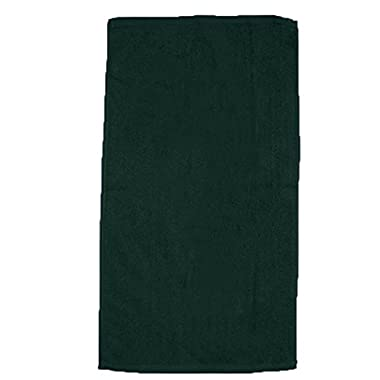 (3 Pack) Great Quality Ultra Soft Large Velour Beach Towels (Forest Green)
