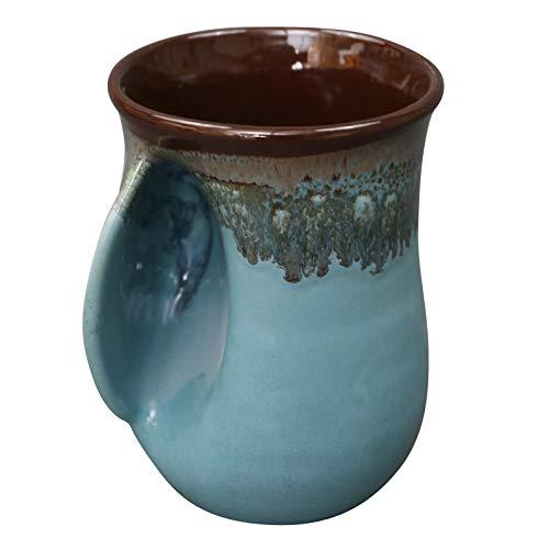 Clay in Motion Handwarmer Mug (Left Hand, Ocean Tide)
