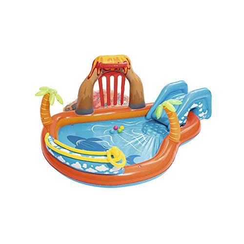 ZMCOV Planschbecken Fur Kinder, Familie Pool Mit Rutsche, Kinderpool Für Schwimmen Spielen Schlafen, Kinder Aufstellpool Planschbecken Aufblasbare Pool, Aufblasbare Badewanne