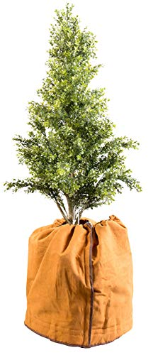 Royal Gardineer Winterschutz: Thermo-Topfschutz für Pflanzen, 50 x 45 cm, mit Drainage-Öffnungen (Blumen-Abdeckung)