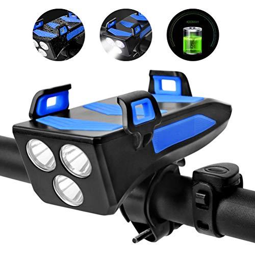 WBTY - Juego de luces LED recargables para bicicleta (USB, luz frontal para bicicleta de montaña, luz de ciclista)