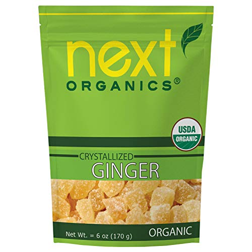 Next Organics Dried Crystallized Ginger 6 oz (Pack of 1)