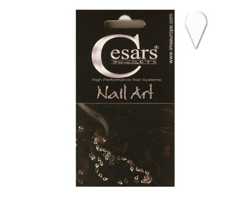 Cesars Nail Art Tear Drops argent